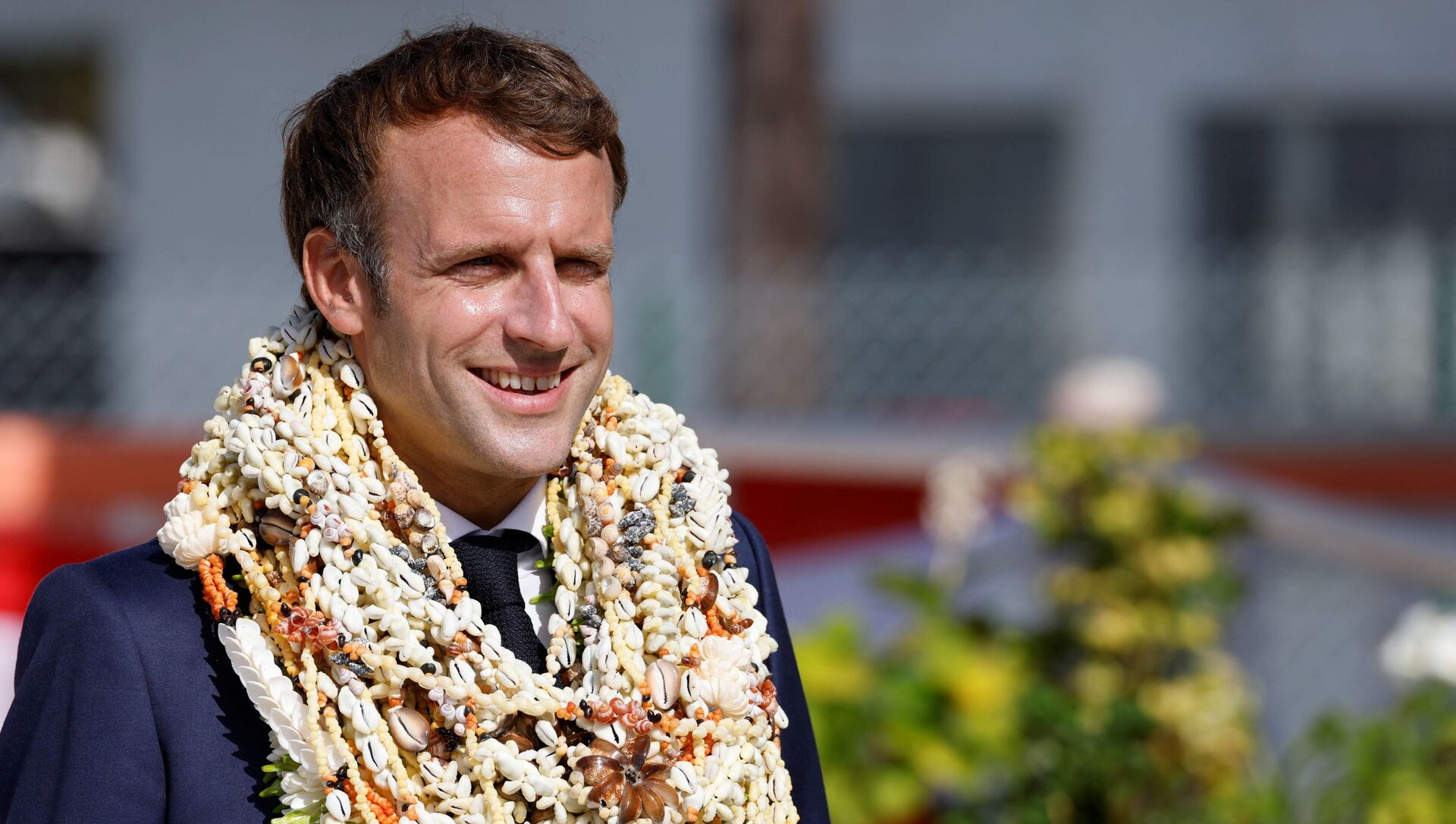 Emmanuel Macron en visite en Polynésie française, le 26 juillet - Sputnik France, 1920, 27.07.2021