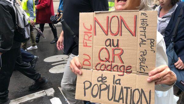 Manifestation contre le pass sanitaire (image d'illustration) - Sputnik France