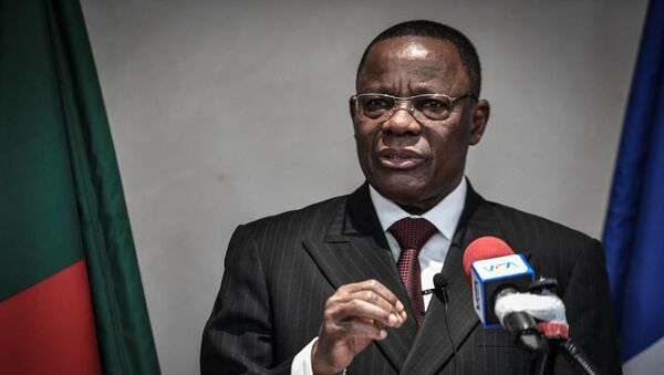Maurice Kamto, leader de l'opposition camerounaise, lors d'une conférence de presse à Paris le 30 janvier 2020 - Sputnik France