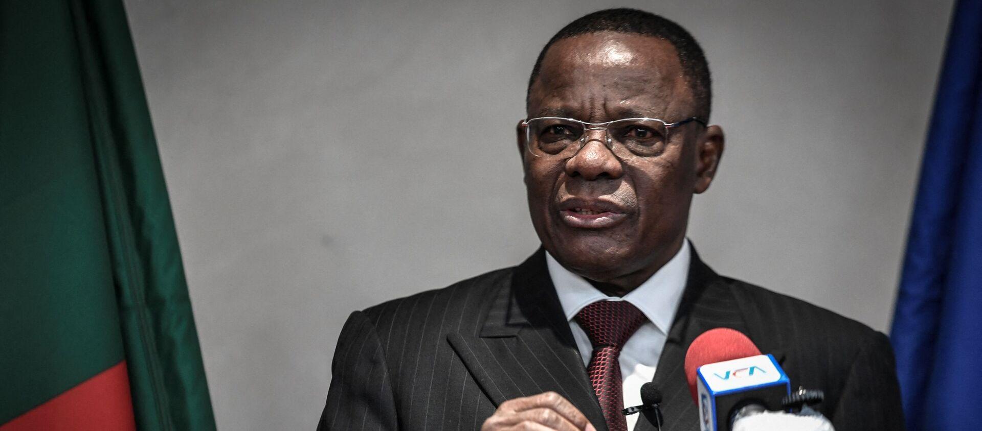 Maurice Kamto, leader de l'opposition camerounaise, lors d'une conférence de presse à Paris le 30 janvier 2020 - Sputnik France, 1920, 28.07.2021