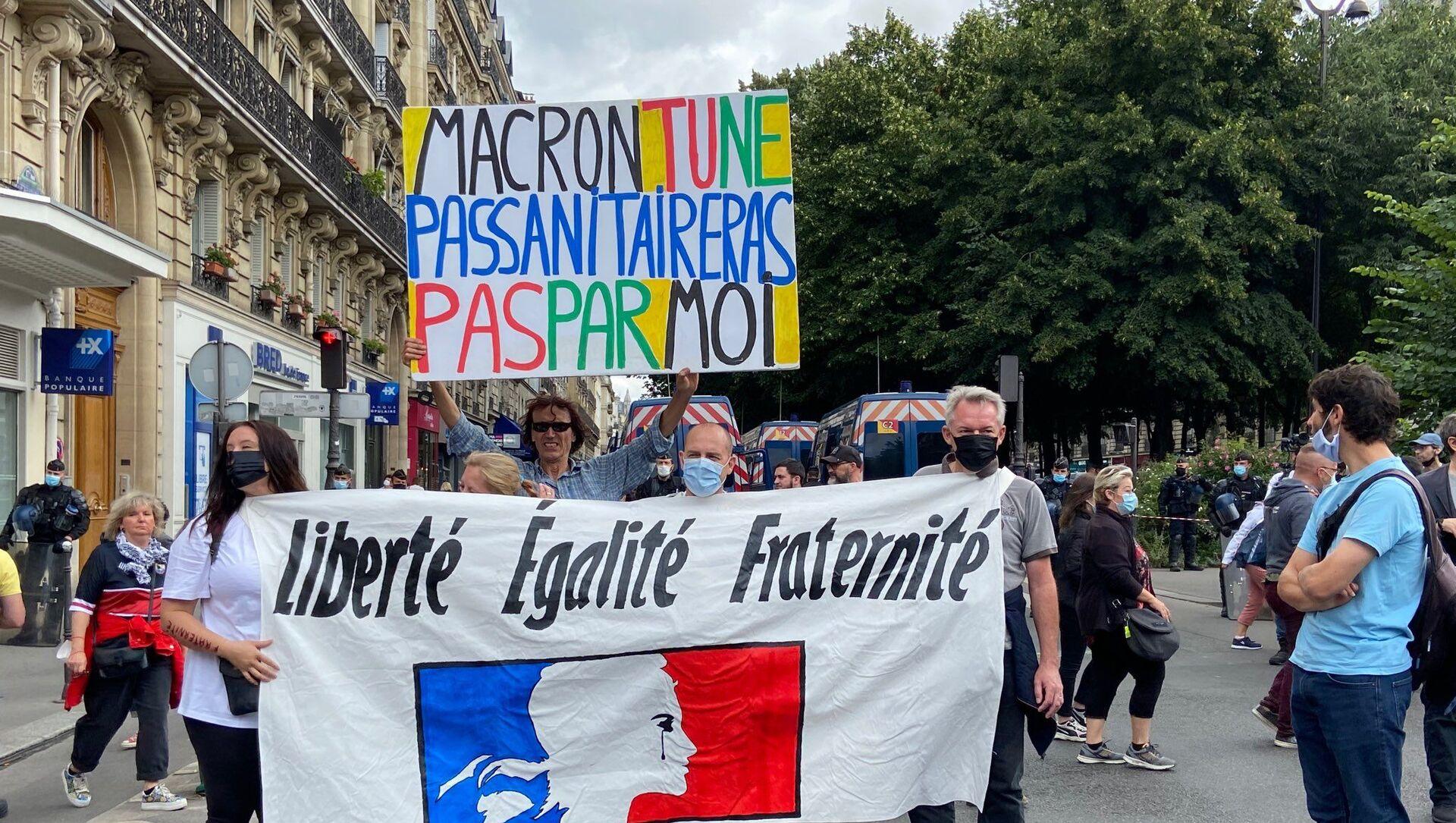 Manifestation contre le pass sanitaire à Paris - Sputnik France, 1920, 31.07.2021