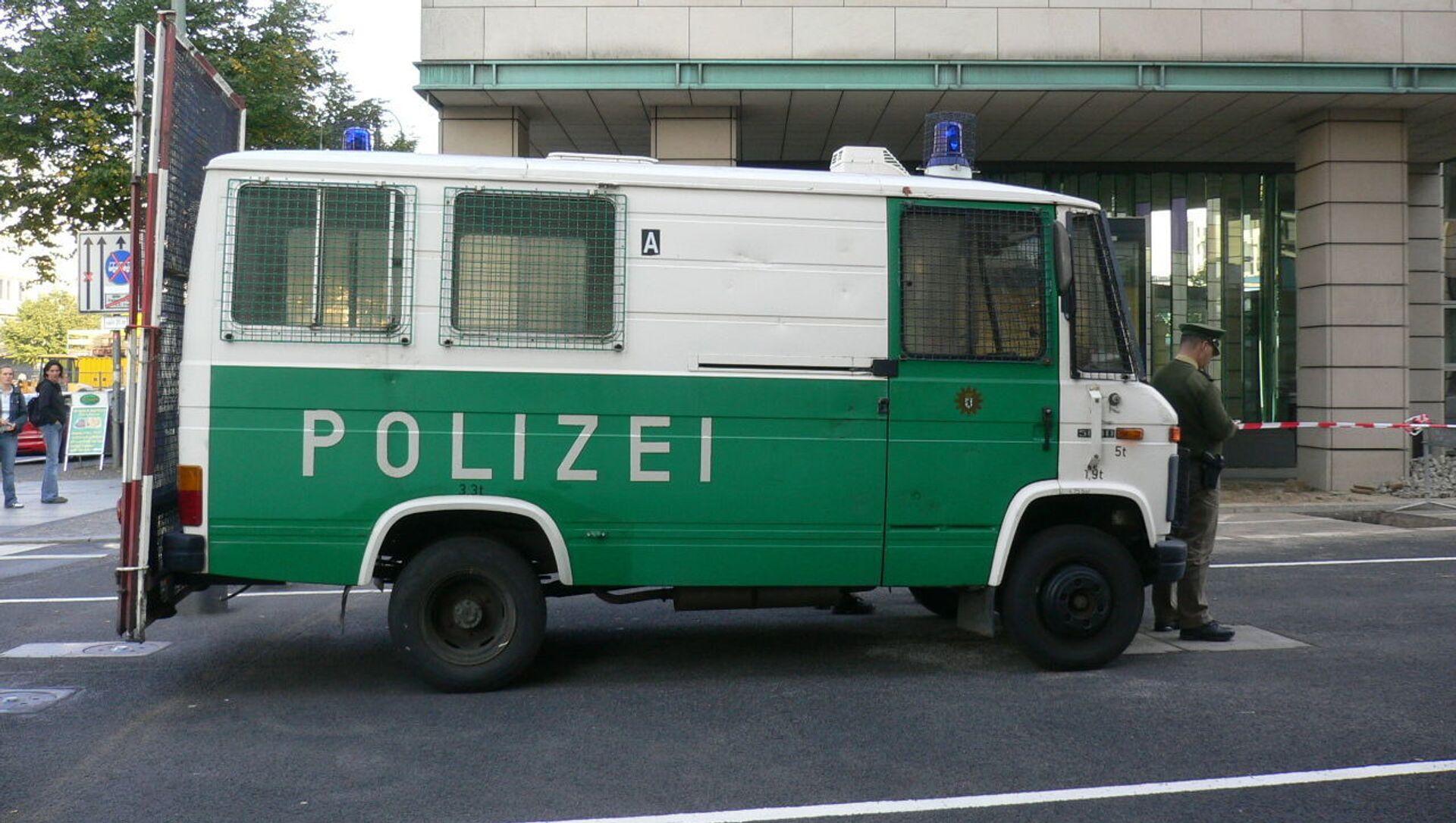 Un véhicule de police à Berlin (image d'illustration) - Sputnik France, 1920, 02.08.2021