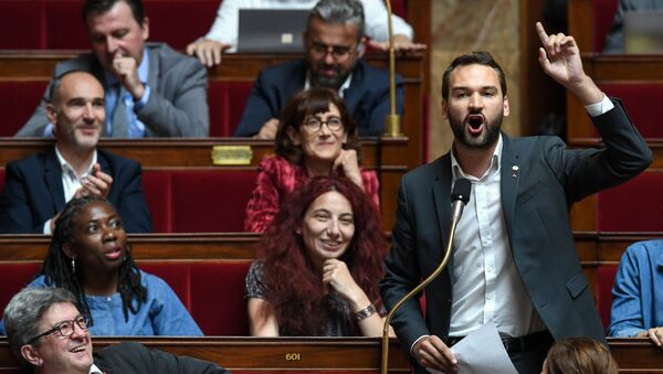 Ugo Bernalicis à l'Assemblée nationale, juillet 2019 - Sputnik France