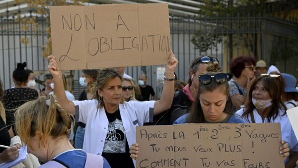 Manifestation soignants Marseille - Sputnik France