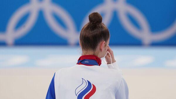 La gymnaste russe Dina Averina, médaille d'argent de l'épreuve individuelle aux Jeux olympiques de Tokyo (archive photo) - Sputnik France
