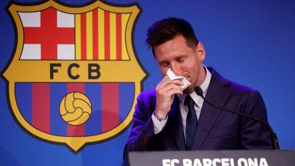 Messi en larmes lors de ses adieux  - Sputnik France