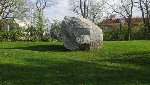 un rocher installé dans l'un des campus de l'université du Wisconsin à Madison - Sputnik France