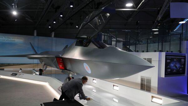 Maquette du Tempest, lors de sa présentation au Farnborough Airshow le 16 juillet 2018. - Sputnik France