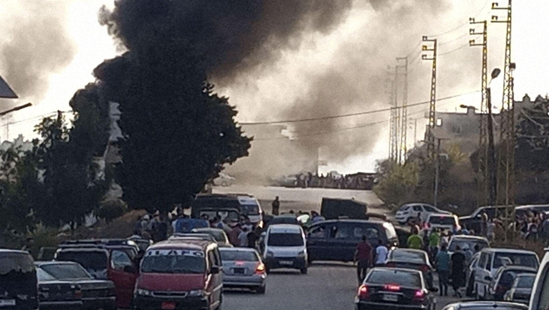 Explosion d'un camion-citerne au Liban - Sputnik France, 1920, 15.08.2021