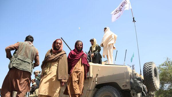 Combattants talibans (organisation terroriste interdite en Russie) à Kaboul. Les Talibans  ont pris le contrôle de Kaboul, la capitale de l'Afghanistan. Le président afghan Ashraf Ghani a fui le pays, le chef de l'État ayant accepté auparavant de démissionner. - Sputnik France