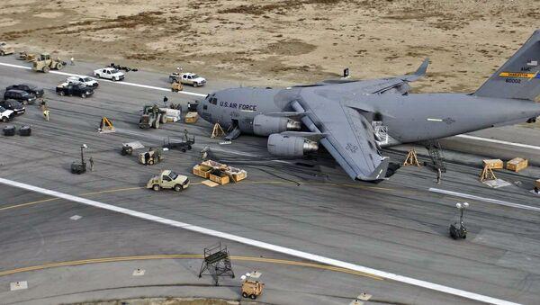 Un C-17 de l'US Air Force sur la base de Bagram en Afghanistan - Sputnik France