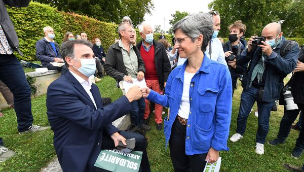 Éric Piolle et Sandrine Rousseau - Sputnik France