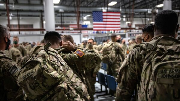 Des militaires US arrivent à Fort Drum, près de New York, après avoir passé neuf mois en Afghanistan en 2020 - Sputnik France
