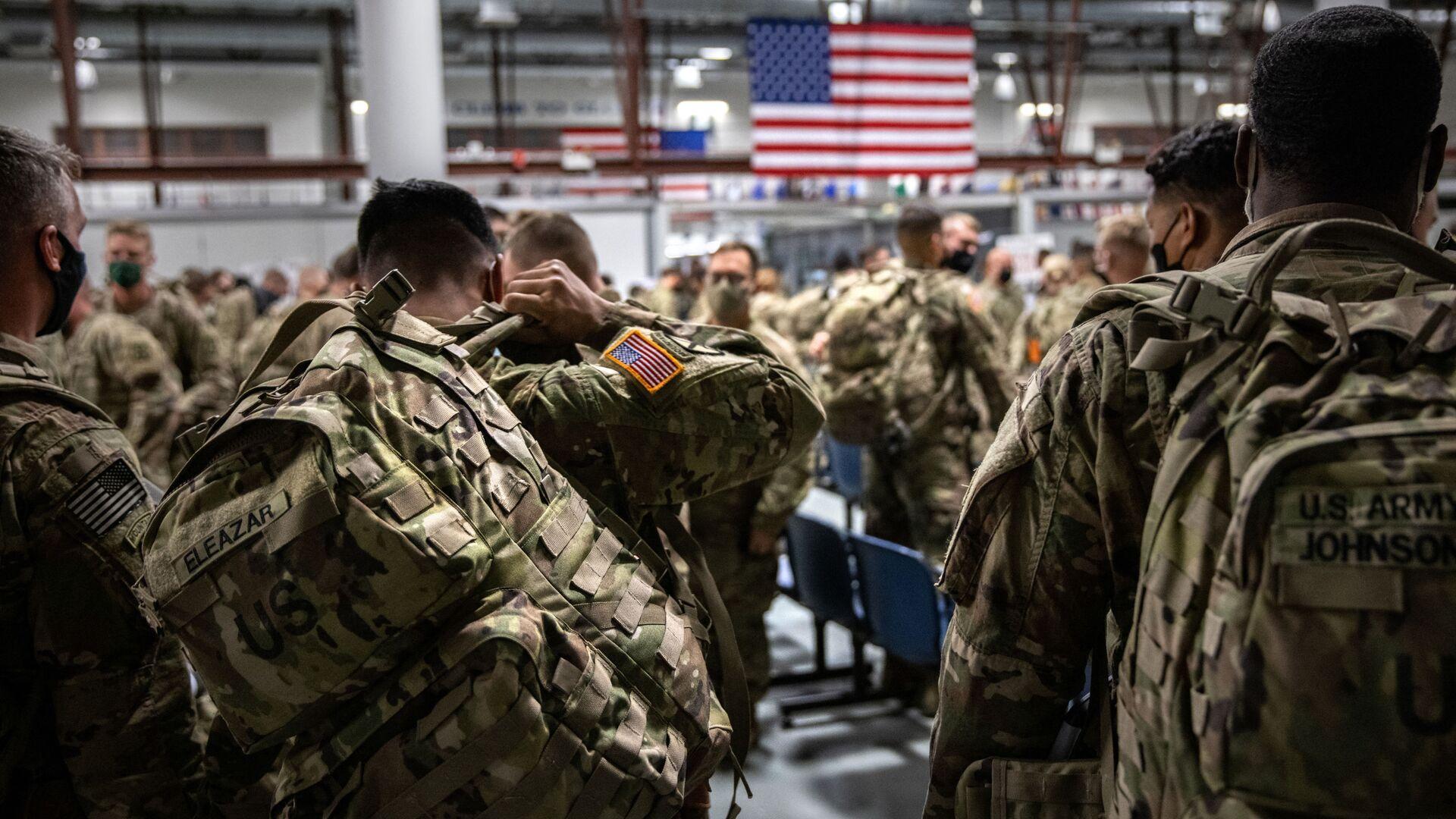 Des militaires US arrivent à Fort Drum, près de New York, après avoir passé neuf mois en Afghanistan en 2020 - Sputnik France, 1920, 02.09.2021