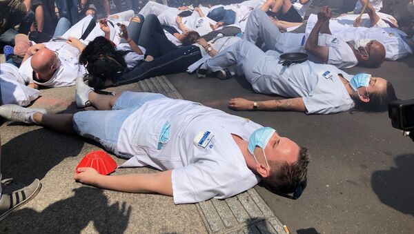 Les soignants manifestent pour l'Hôpital Public, mai 2020 - Sputnik France