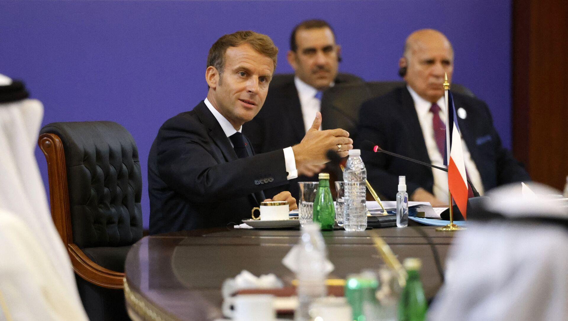 Emmanuel Macron lors d'un déplacement à Bagdad - Sputnik France, 1920, 29.08.2021