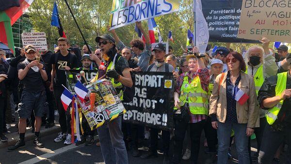 Septième week-end consécutif de mobilisation anti-pass sanitaire à Paris, 28 août 2021 - Sputnik France