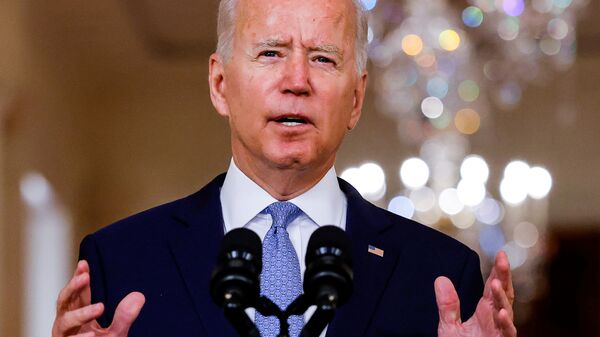 U.S. President Joe Biden delivers remarks on Afghanistan during a speech in the State Dining Room at the White House in Washington, U.S., August 31, 2021. - Sputnik France