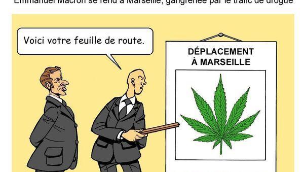 Visite d'Emmanuel Macron à Marseille: un écran de fumée?  - Sputnik France