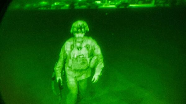 Le dernier soldat américain quittant Kaboul, le 30 août 2021  - Sputnik France