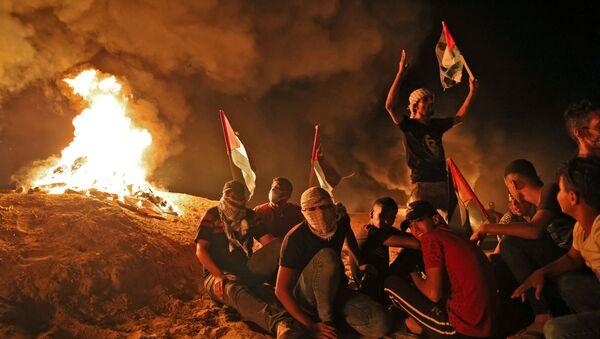 Palestine: manifestations nocturnes près de la frontière avec Israël  - Sputnik France