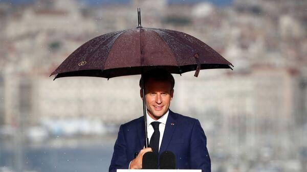 Emmanuel Macron lors de sa visite à Marseille - Sputnik France