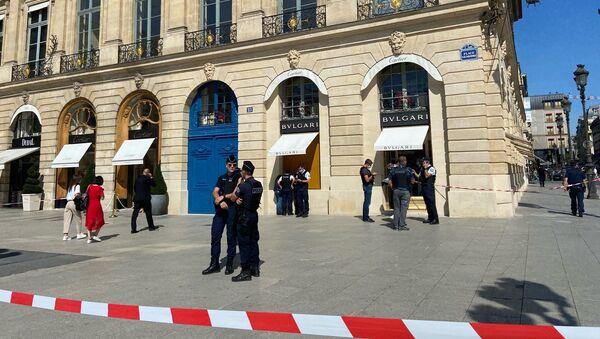 Important braquage de bijouterie place Vendôme, situation sur place, le 7 septembre 2021 - Sputnik France