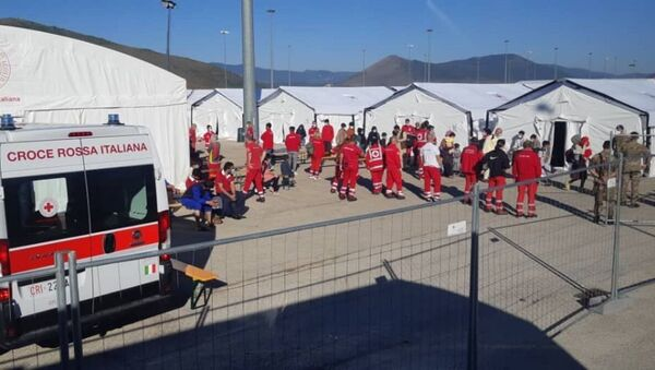 Un camp de réfugiés afghans à Avezzano, en Italie. - Sputnik France