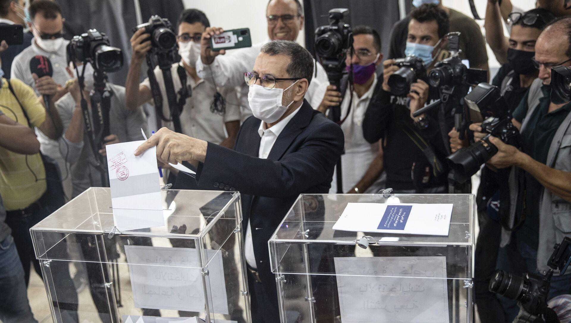 Saadeddine Othmani, leader du PJD et Premier ministre sortant, vote dans sa commune de Salé, le 8 septembre 2021 - Sputnik France, 1920, 10.09.2021