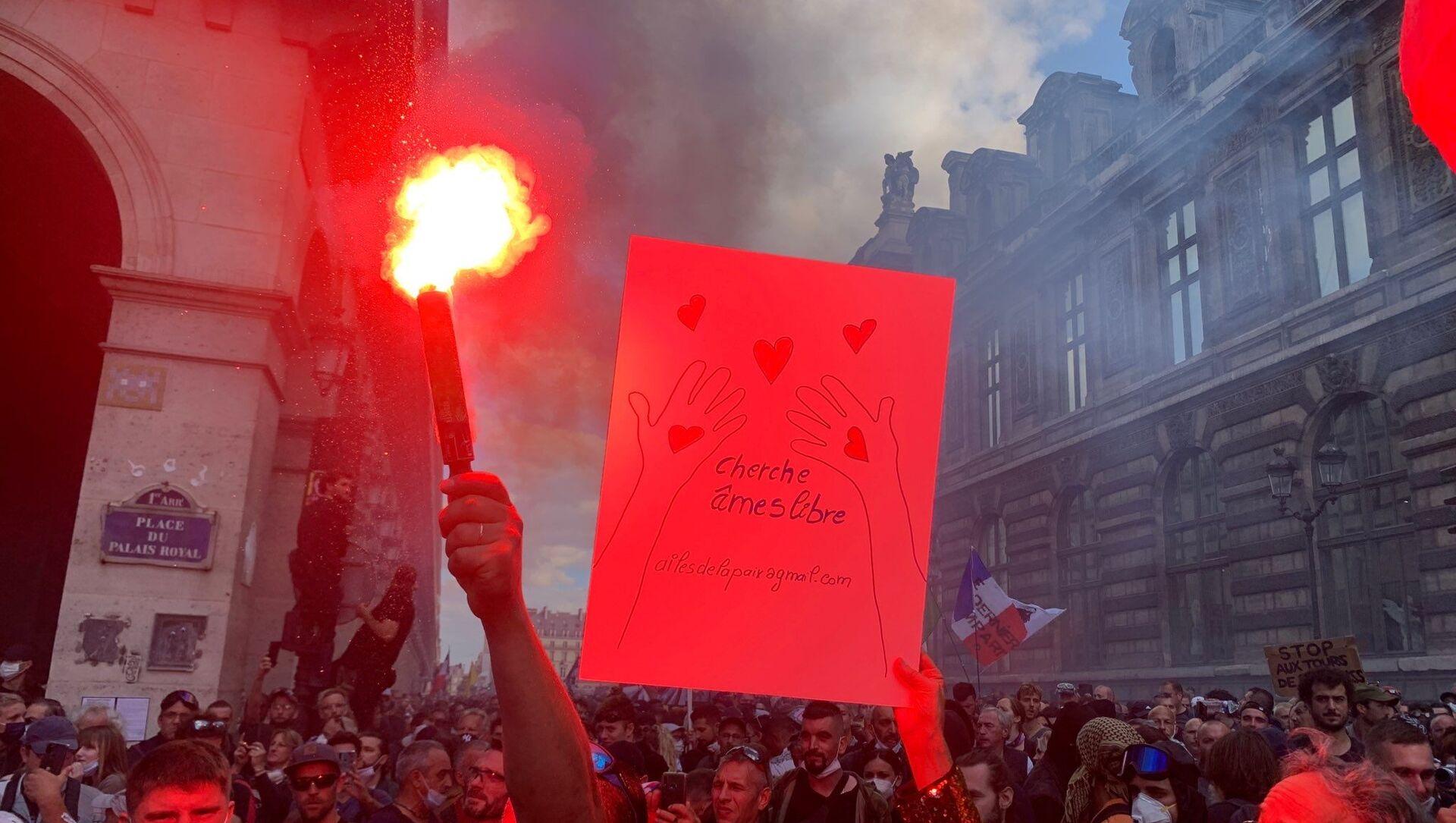 Neuvième week-end de mobilisation contre le pass sanitaire à Paris, le 11 septembre 2021 - Sputnik France, 1920, 11.09.2021