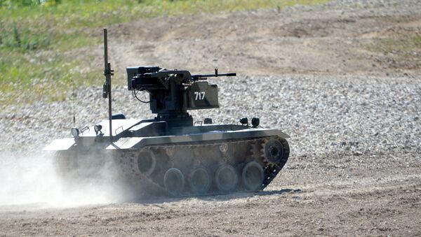Robot de combat de fabrication russe Platform-M - Sputnik France