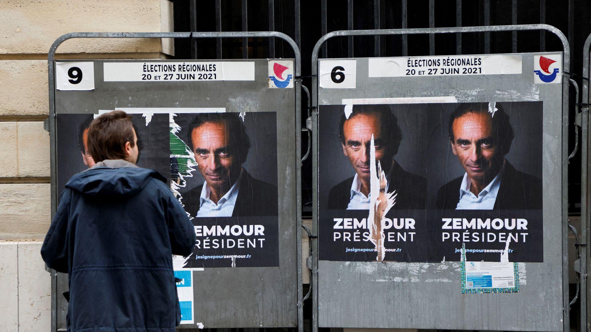 Des affiches «Zemmour président» à Paris - Sputnik France, 1920, 17.09.2021