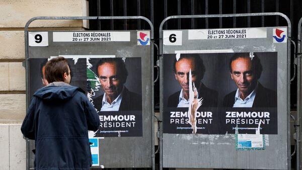 Des affiches «Zemmour président» à Paris - Sputnik France