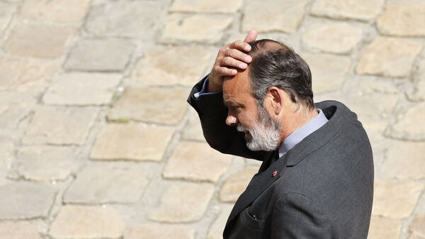 Former French Prime Minister Edouard Philippe attends the farewell to arms ceremony of French Armies Chief of the Defence Staff Francois Lecointre at The Invalides, in Paris on July 21, 2021. (Photo by Ludovic MARIN / AFP) - Sputnik France