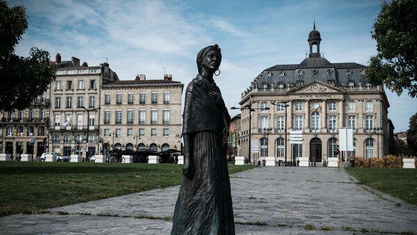 La statue de Modeste Teste créée par le sculpteur Caymitte Woodly ou Filipo, érigée à Bordeaux. Le 13 septembre 2021 - Sputnik France