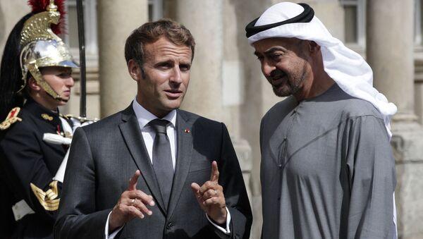 Emmanuel Macron et Mohammed ben Zayed Al Nahyane - Sputnik France