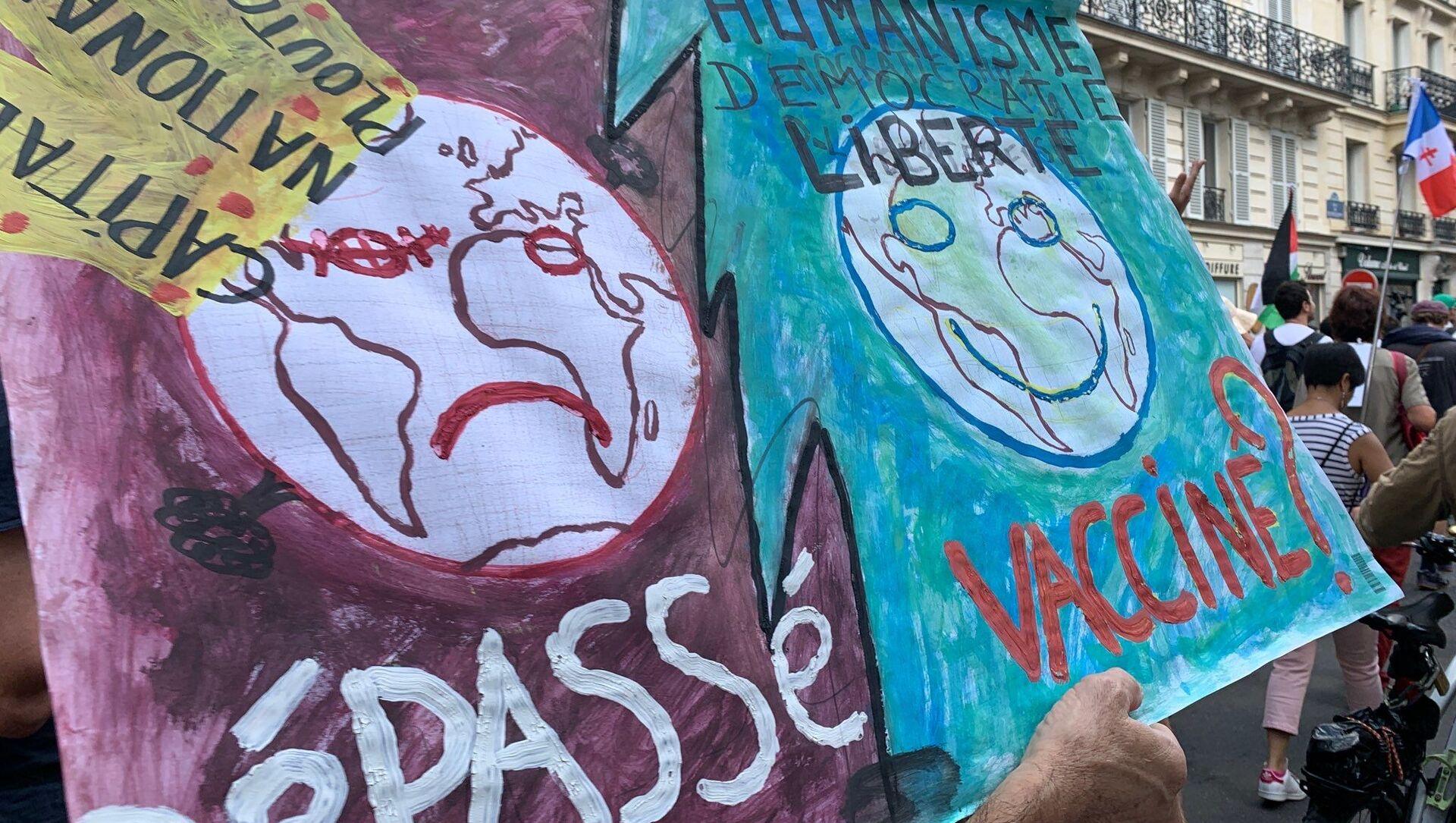 Dixième samedi de manifestations contre le pass sanitaire, le 18 septembre 2021  - Sputnik France, 1920, 19.09.2021