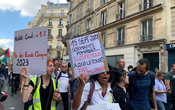 Dixième samedi de manifestations contre le pass sanitaire, le 18 septembre 2021  - Sputnik France
