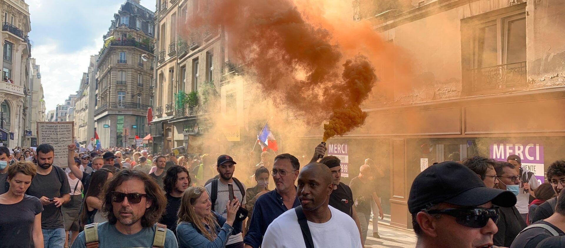 Dixième samedi de manifestations contre le pass sanitaire, le 18 septembre 2021  - Sputnik France, 1920, 18.09.2021