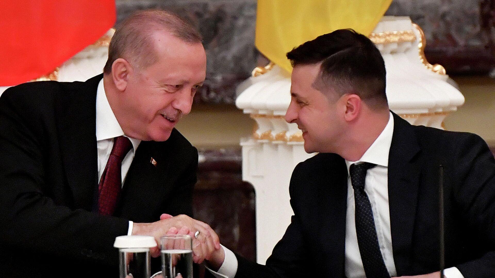 Volodymyr Zelensky et Recep Tayyip Erdogan - Sputnik France, 1920, 22.09.2021