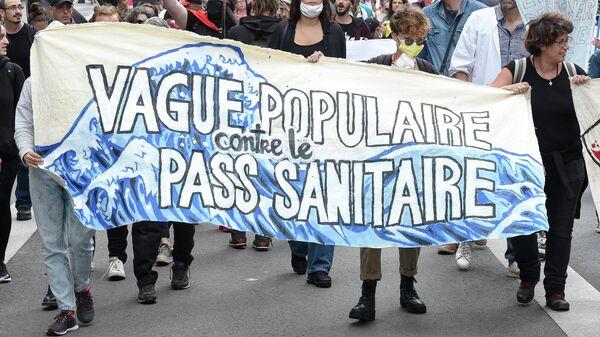 Manifestation anti pass sanitaire - Sputnik France