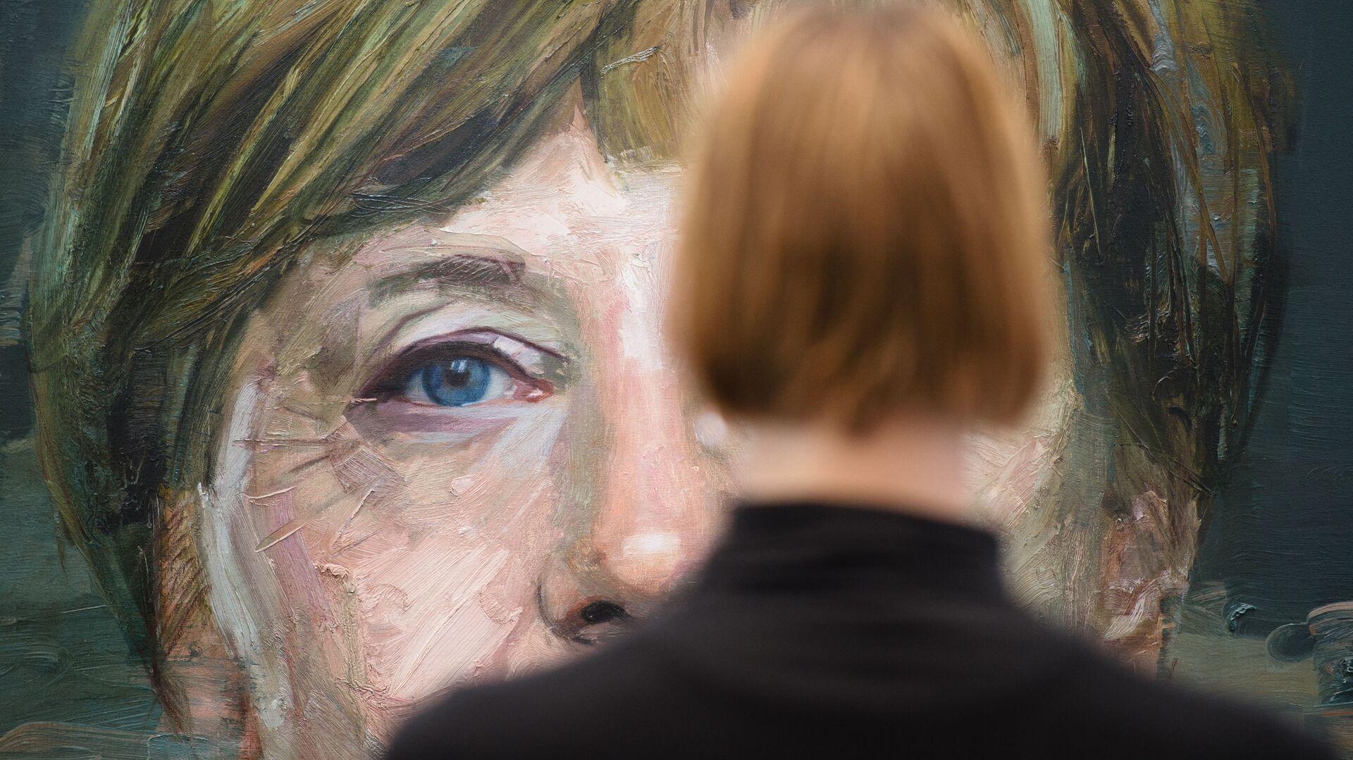 Портрет Ангелы Меркель Колина Дэвидсона на Лондонской художественной ярмарке - Sputnik France, 1920, 24.09.2021