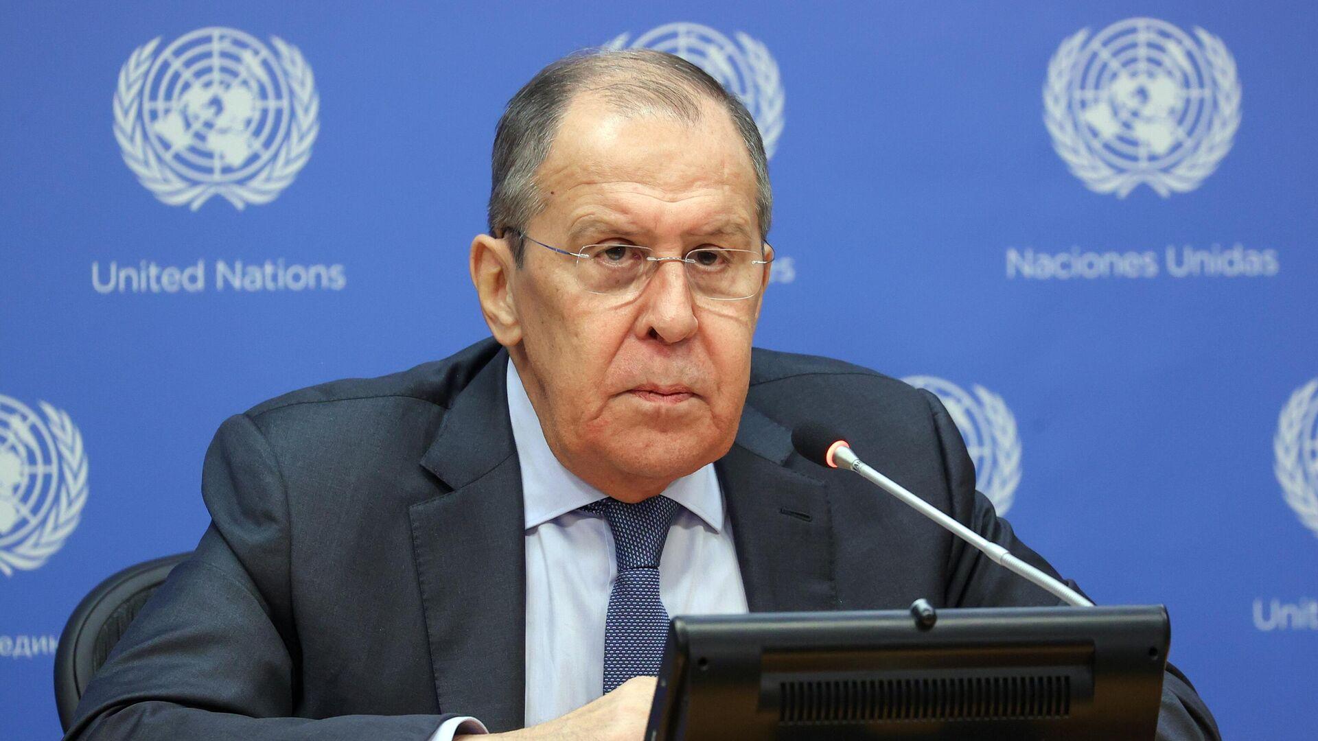 Chef de la diplomatie russe Sergueï Lavrov au siège de l'Onu à New-York - Sputnik France, 1920, 25.09.2021
