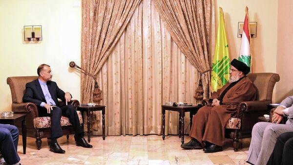 Hossein Amir-Abdollahian et Hassan Nasrallah - Sputnik France