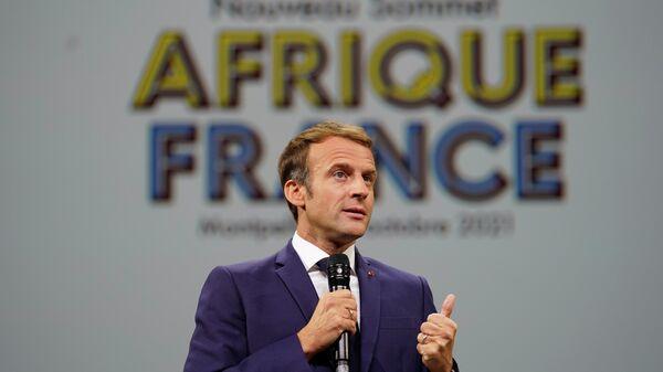 Emmanuel Macron au Sommet Afrique-France - Sputnik France