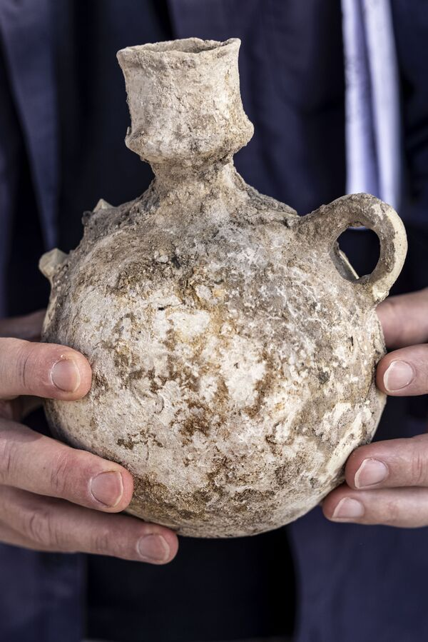 Le calcul de la capacité des pressoirs a montré qu'environ deux millions de litres de vin étaient produits sur le site chaque année. - Sputnik France