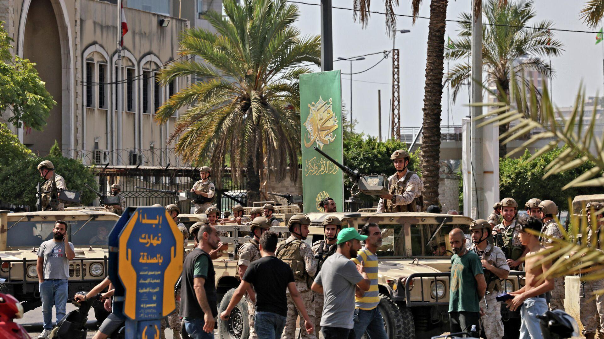 L'armée libanaise prend une position dans une banlieue sud de Beyrouth, le 14 octobre - Sputnik France, 1920, 14.10.2021