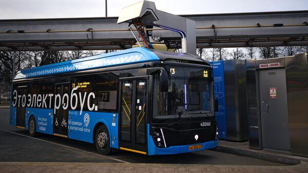 Un bus électrique à Moscou (photo d'archives) - Sputnik France
