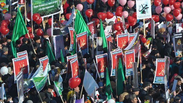 Manifestation contre les publications offensant le prophète Mahomet - Sputnik France