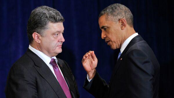 Piotr Porochenko et Barack Obama - Sputnik France